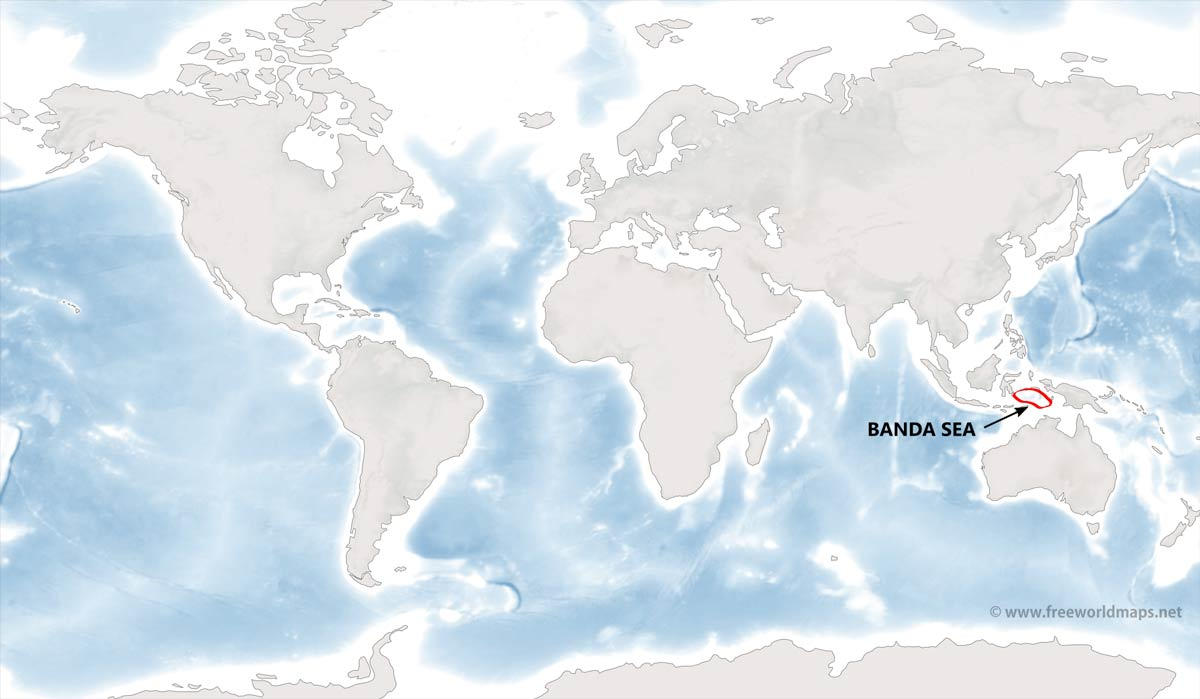 Banda Sea Map By Freeworldmaps Net
