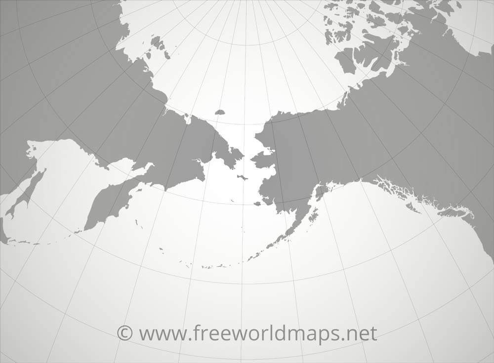 World Map Bering Strait.Bering Strait Map