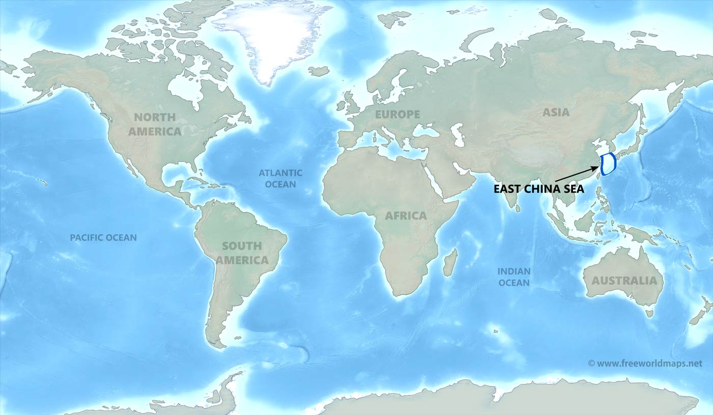 East china sea map by freeworldmaps where is east china sea gumiabroncs Choice Image