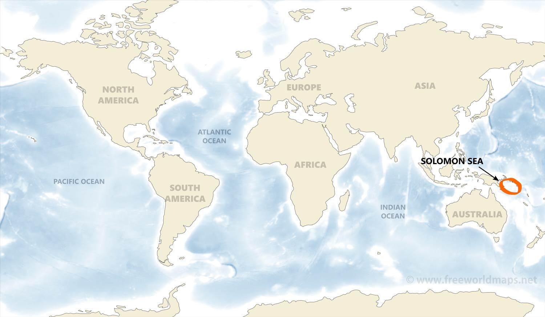 Solomon sea map by freeworldmaps where is solomon sea gumiabroncs Choice Image
