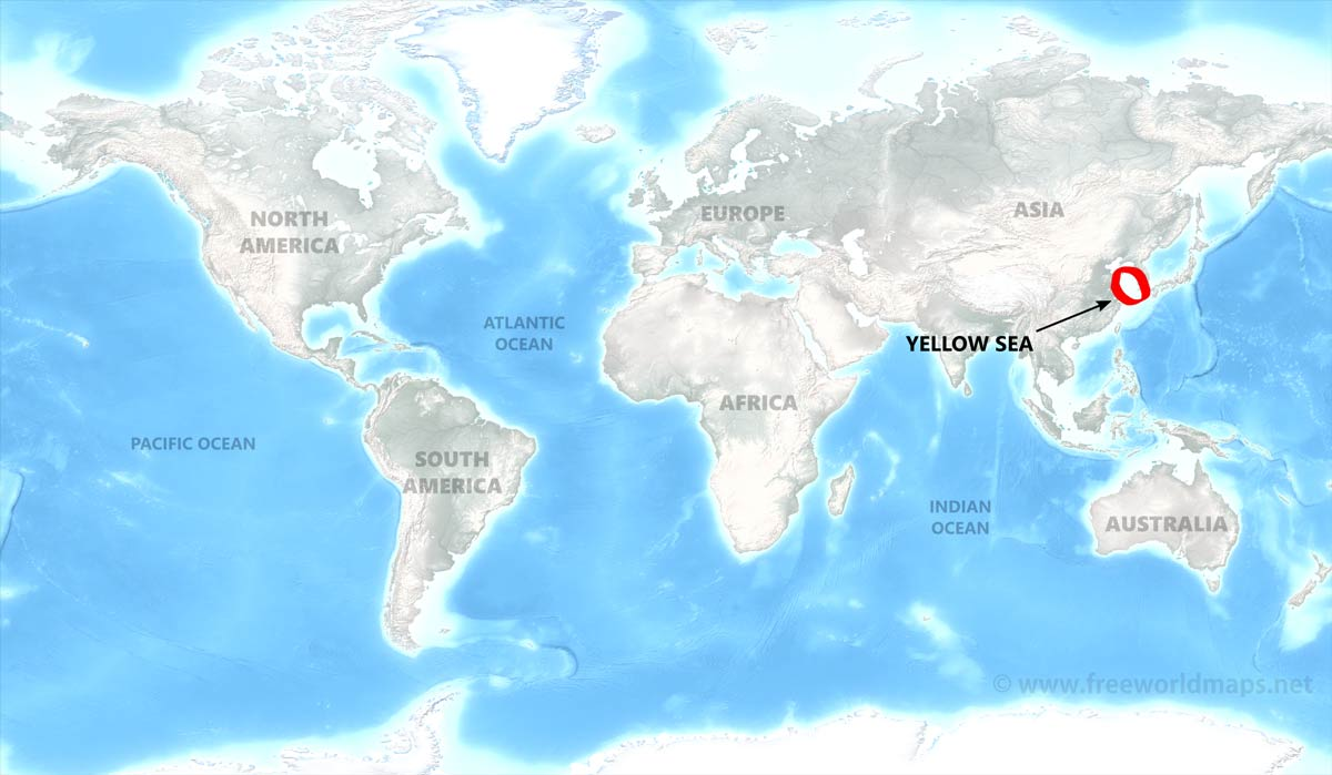 Yellow Sea Map By Freeworldmaps Net