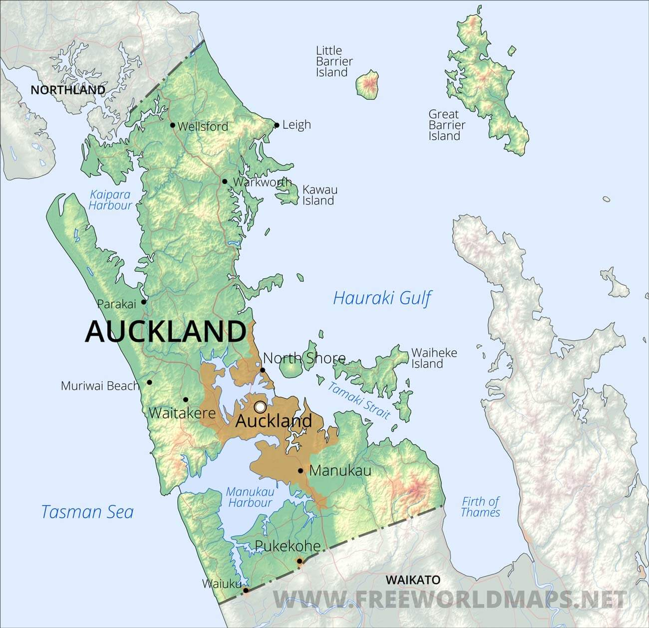 Map Of New Zealand Auckland.Auckland Region Maps Nz