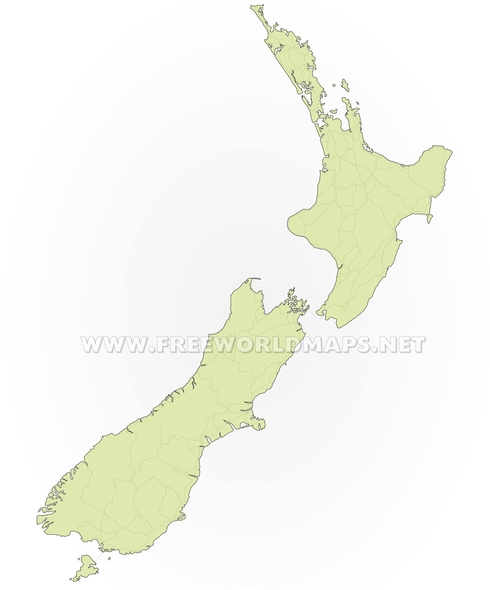 New Zealand Political Map - Map new zealand