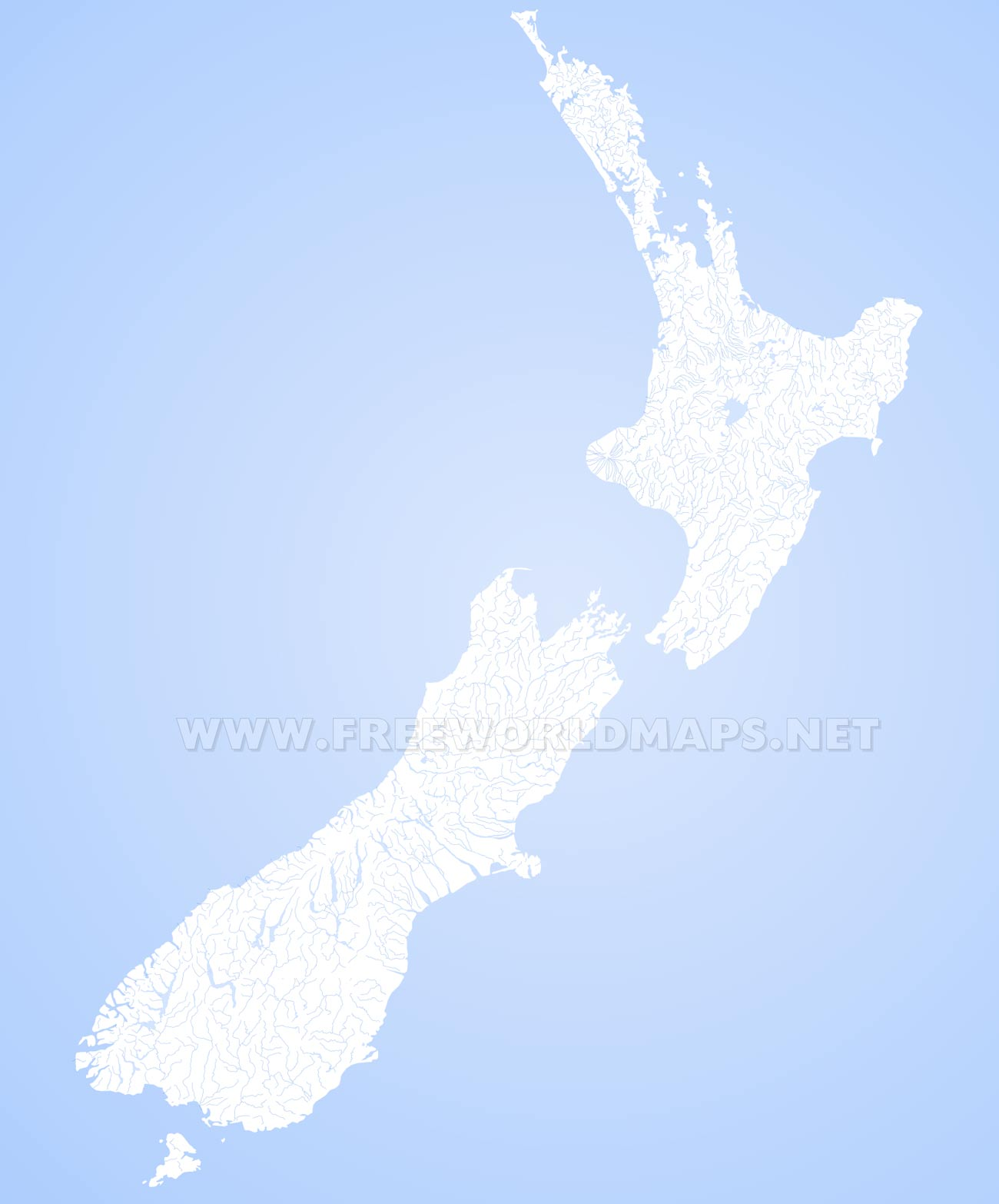 New zealand physical map physical map of new zealand new zealand rivers publicscrutiny Choice Image