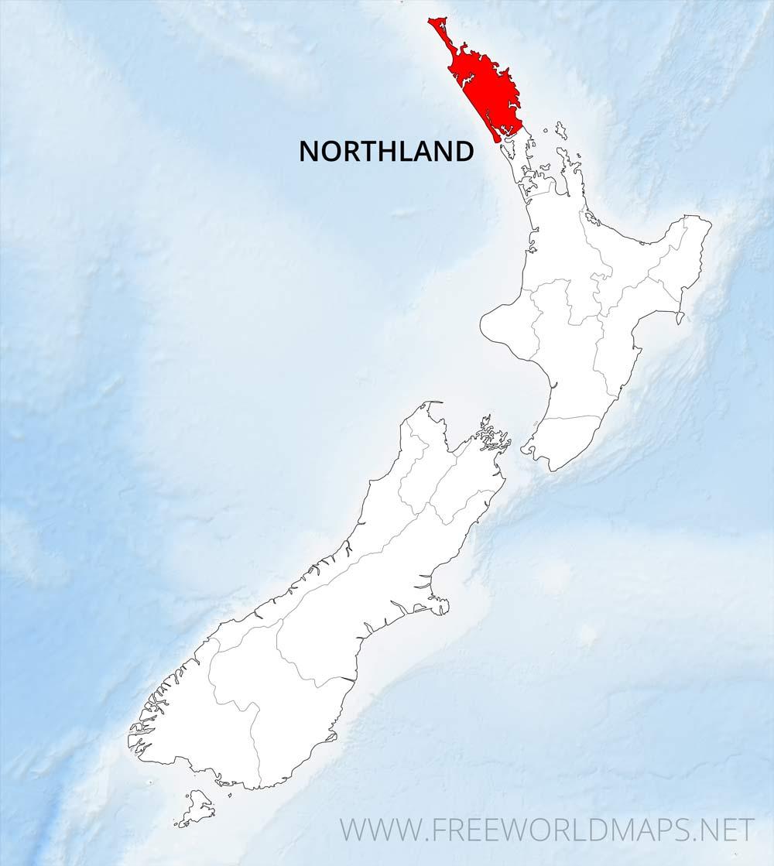 New Zealand Northland Map Detailed.Northland Region Maps Nz