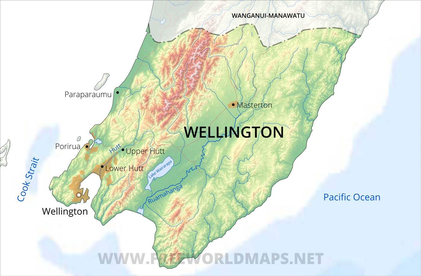 Map Of New Zealand Wellington.Wellington Region Maps Nz