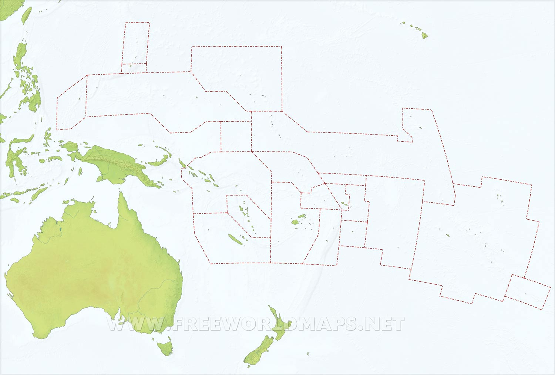 Oceania Maps – Freeworldmaps.net