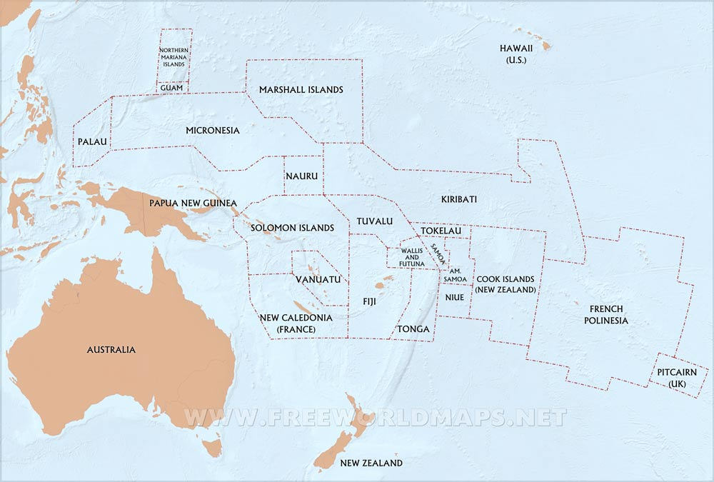 Oceania Maps – Freeworldmaps.net