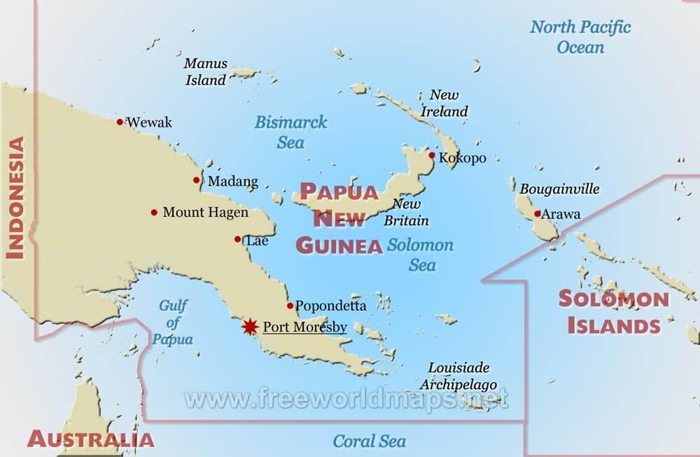 Papua New Guinea Map - Papua new guinea map