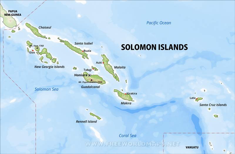 Where Is Solomon Islands Located On The World Map
