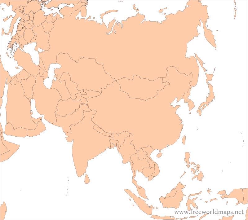 Free PDF maps of Asia