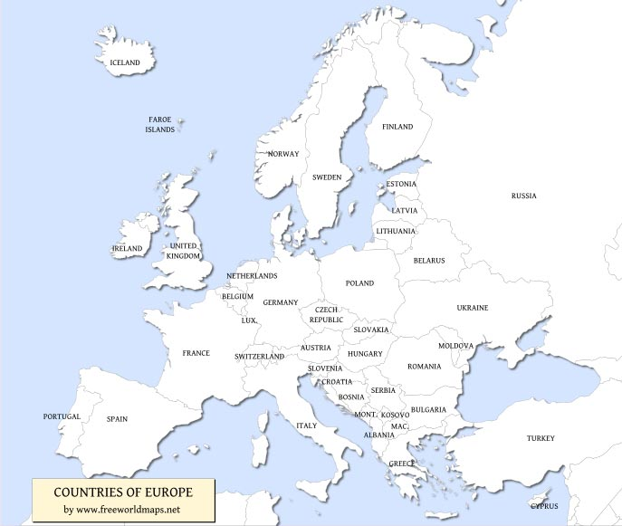 Free pdf maps of europe free pdf map of europe gumiabroncs Gallery