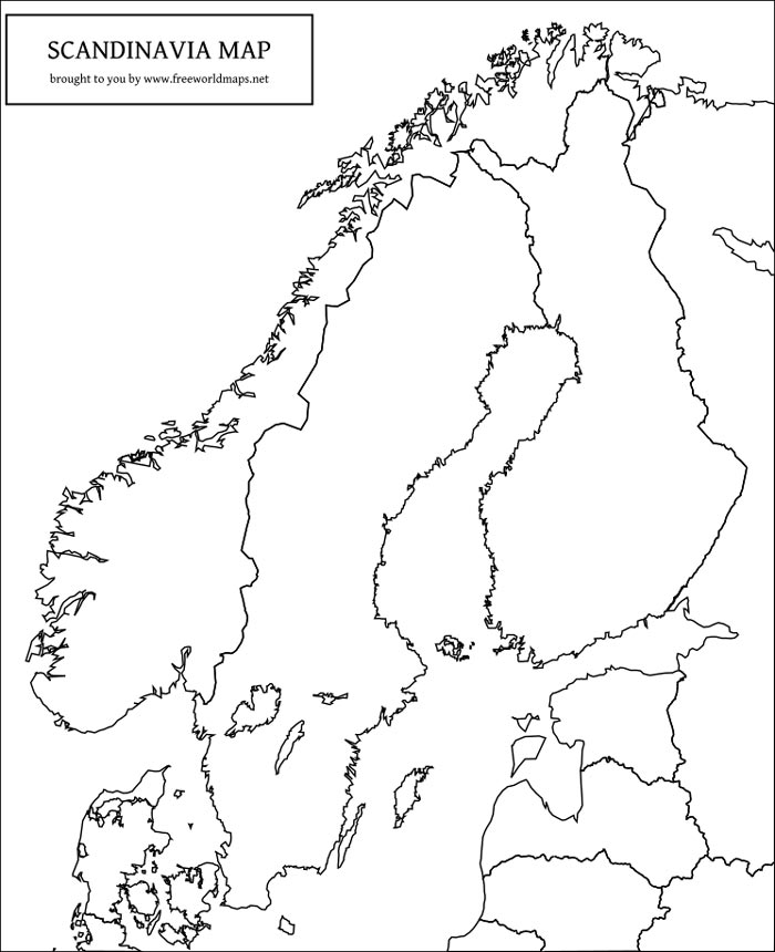 photo regarding Scandinavia Map Printable titled Totally free PDF maps of Scandinavia