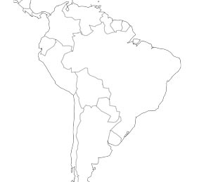 Outline Maps Of Latin America
