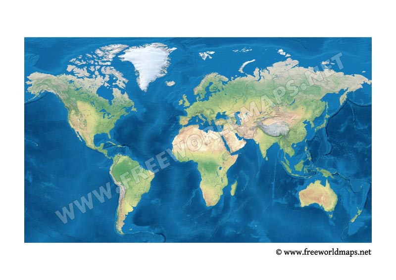 Free PDF World Maps - World map with country names in hindi