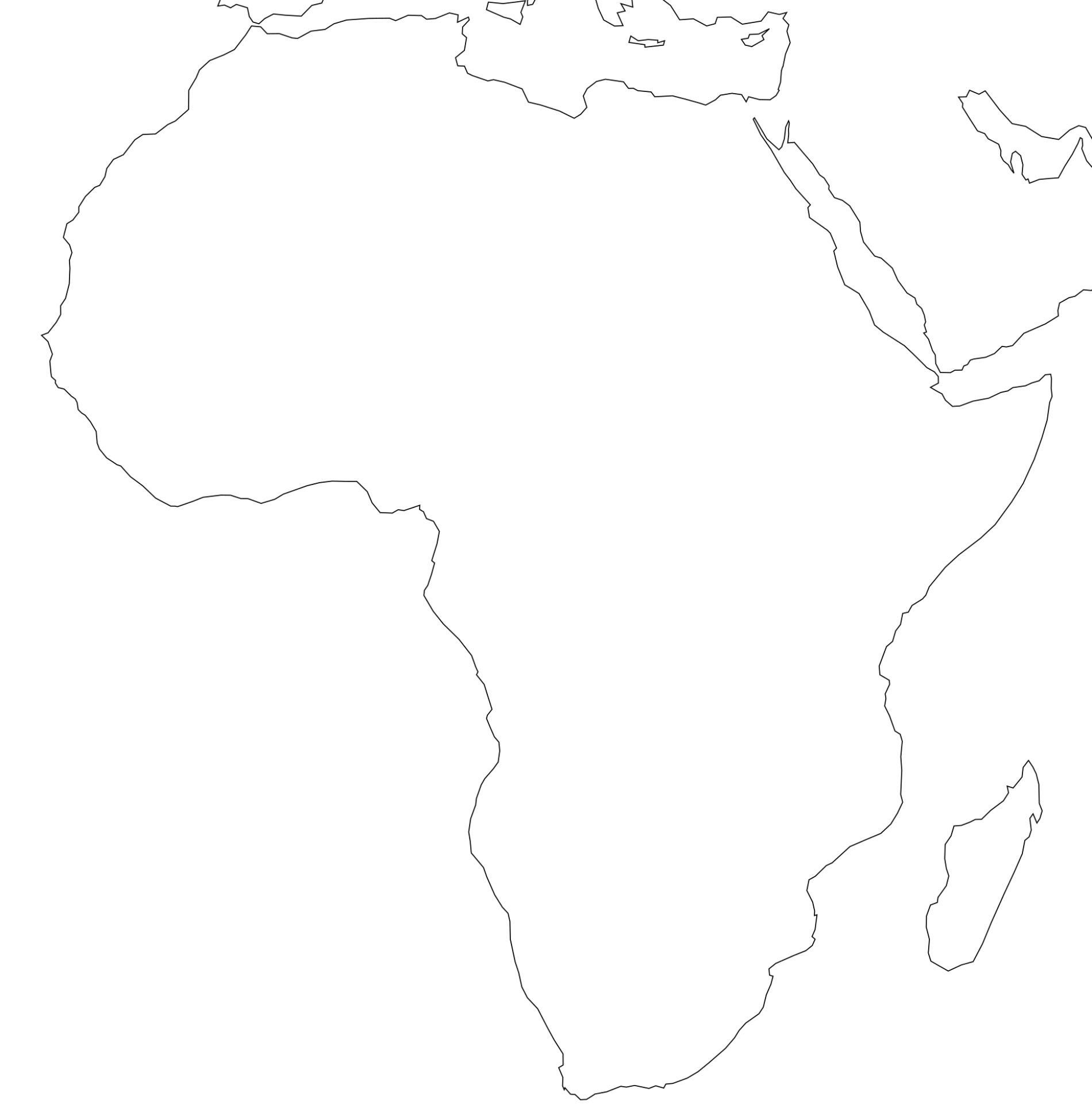Blank Outline Map Of Africa