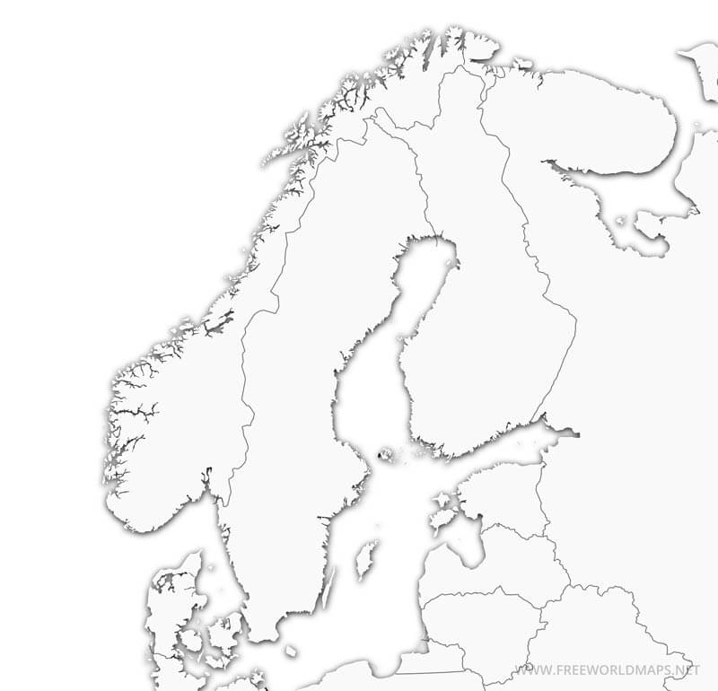 Free Printable Maps of Scandinavia