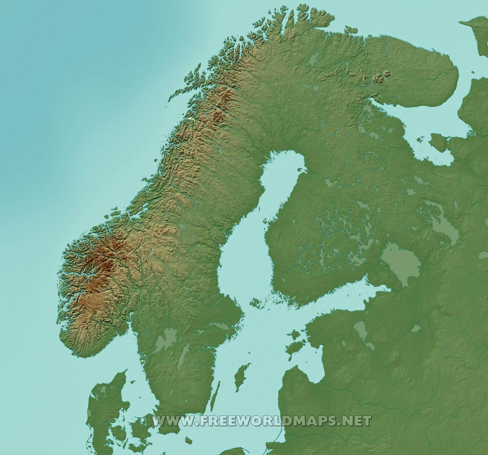 image about Scandinavia Map Printable named Free of charge Printable Maps of Scandinavia