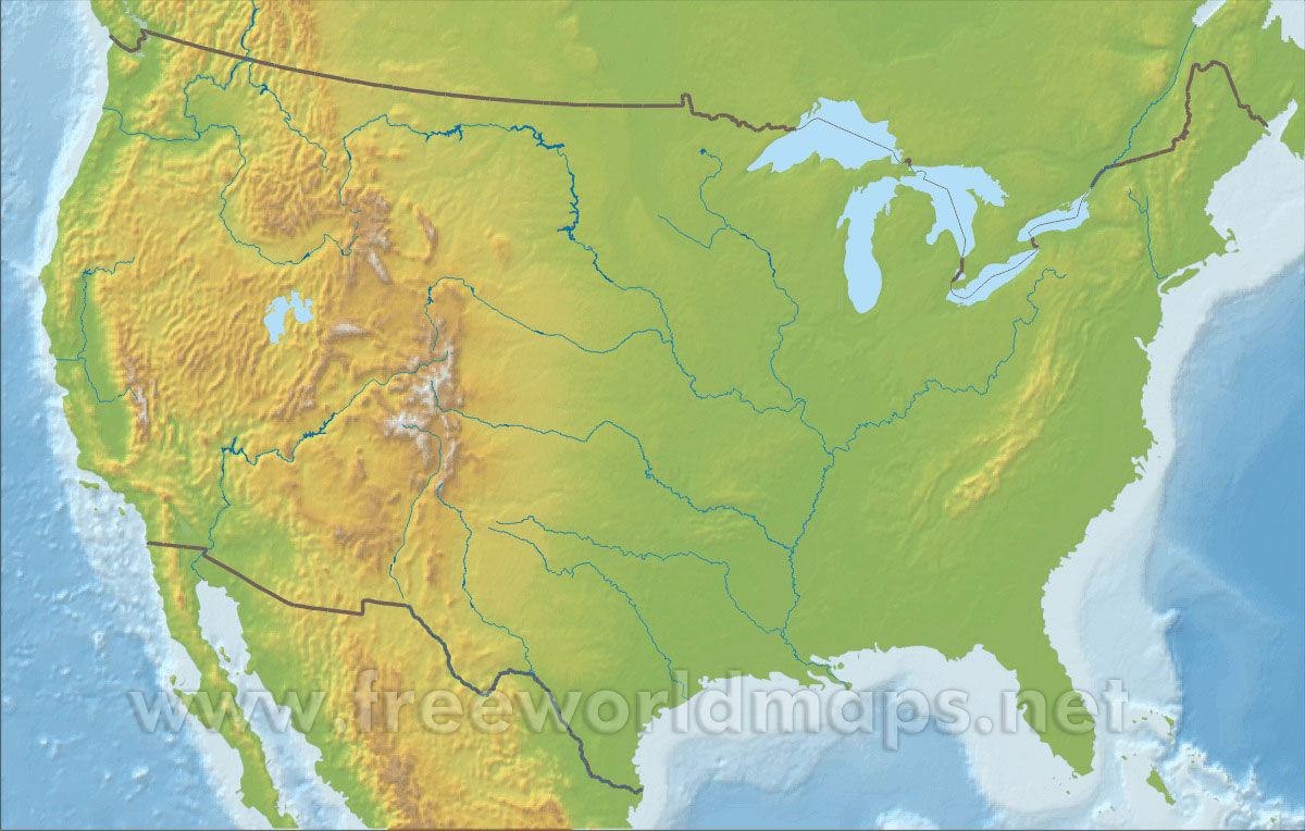 Download Free US Maps - Unlabeled us map