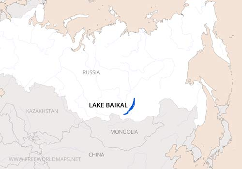 Russia Mountains Lake Baikal Location Map
