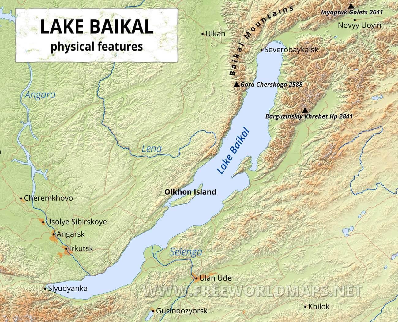 Lake Baikal World Map.Lake Baikal Maps