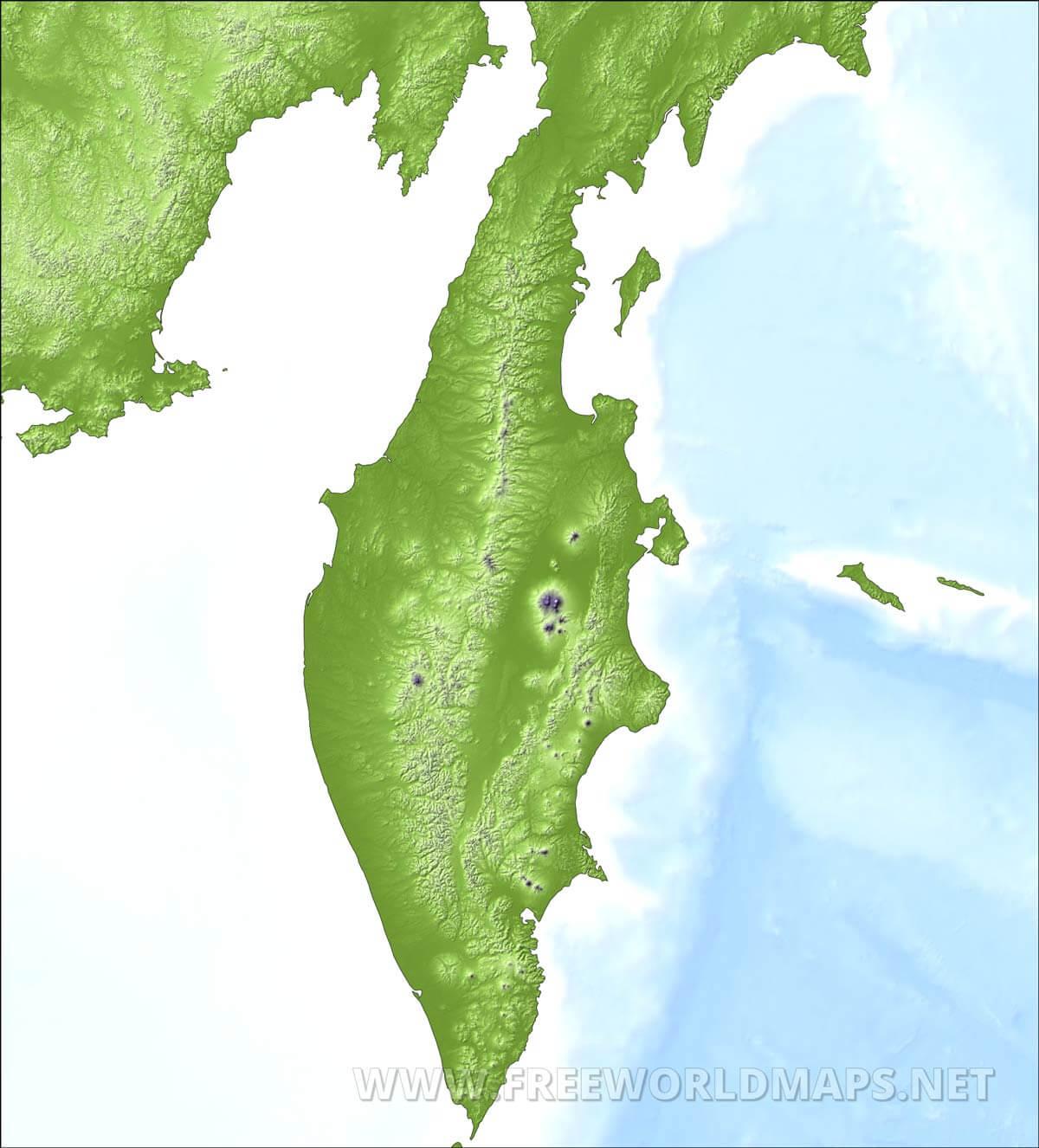 Kamchatka Peninsula On World Map.Kamchatka Maps