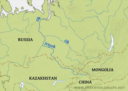 Yenisei River Map Ob Irtysh River | www....