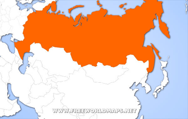 Map World Russia  Map World Russia