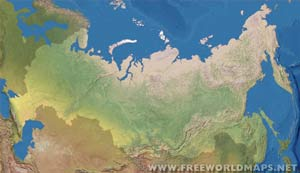 Russia Rivers Map - Physical map of russia