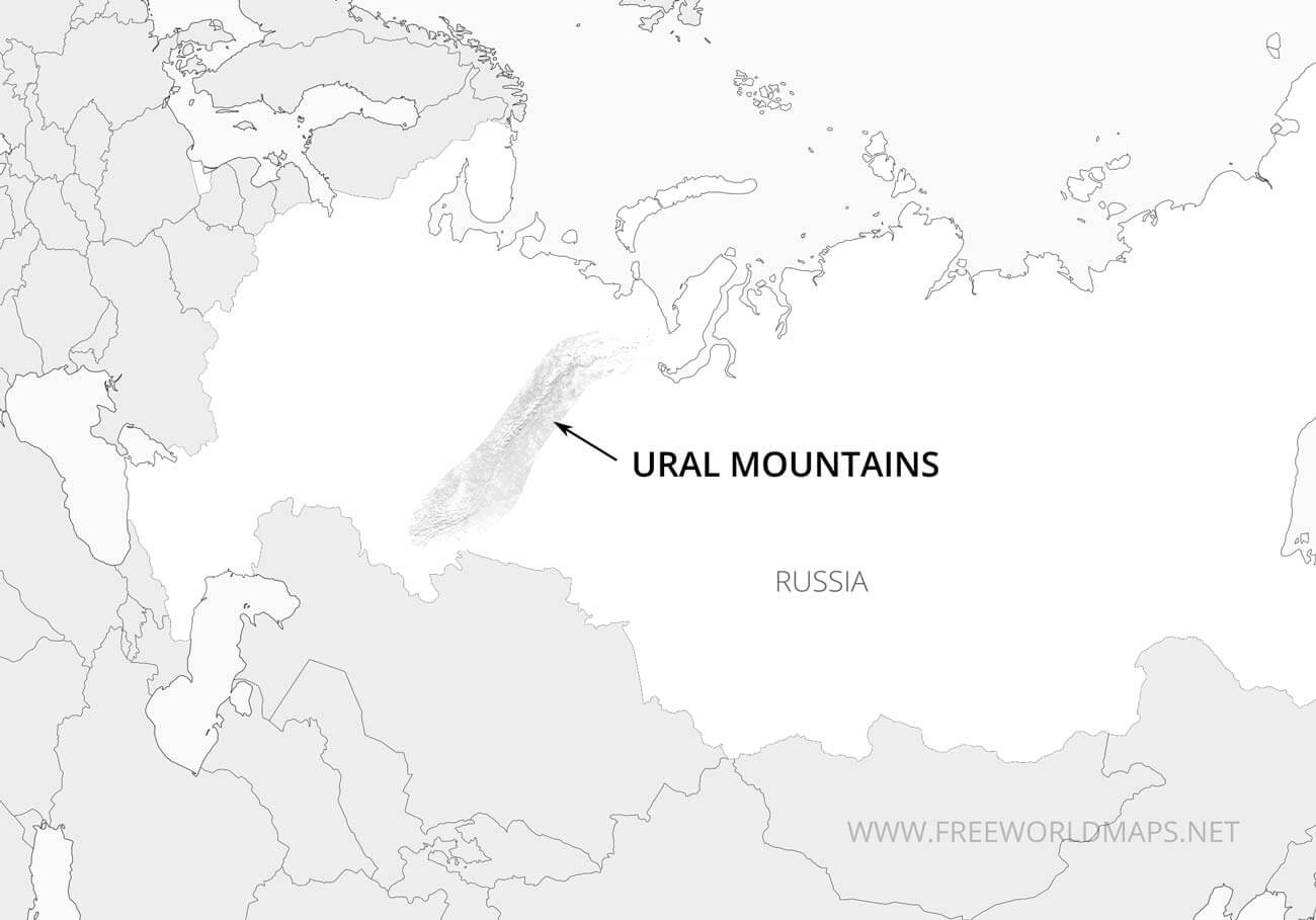 Ural Mountains Map