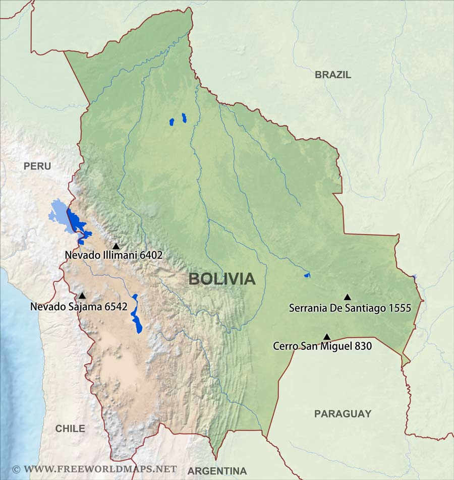 geographical map of bolivia - photo #16