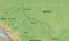Bolivia Political Map - Bolivia physical map