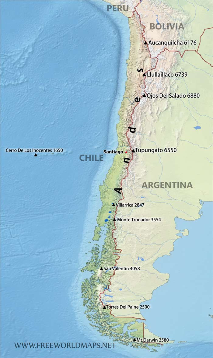 Andes Mountains Map t mobile map