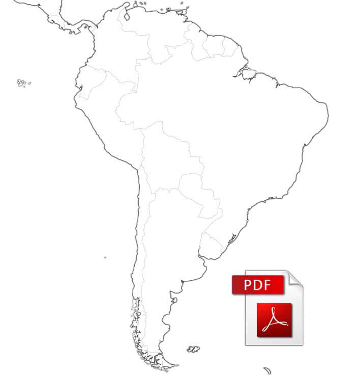 PDF map of South America