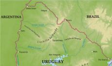 Where is uruguay located on the world map physical map of uruguay sciox Choice Image