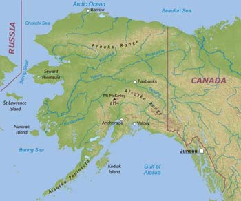 Physical Map Of Alaska | www.picturesso.com