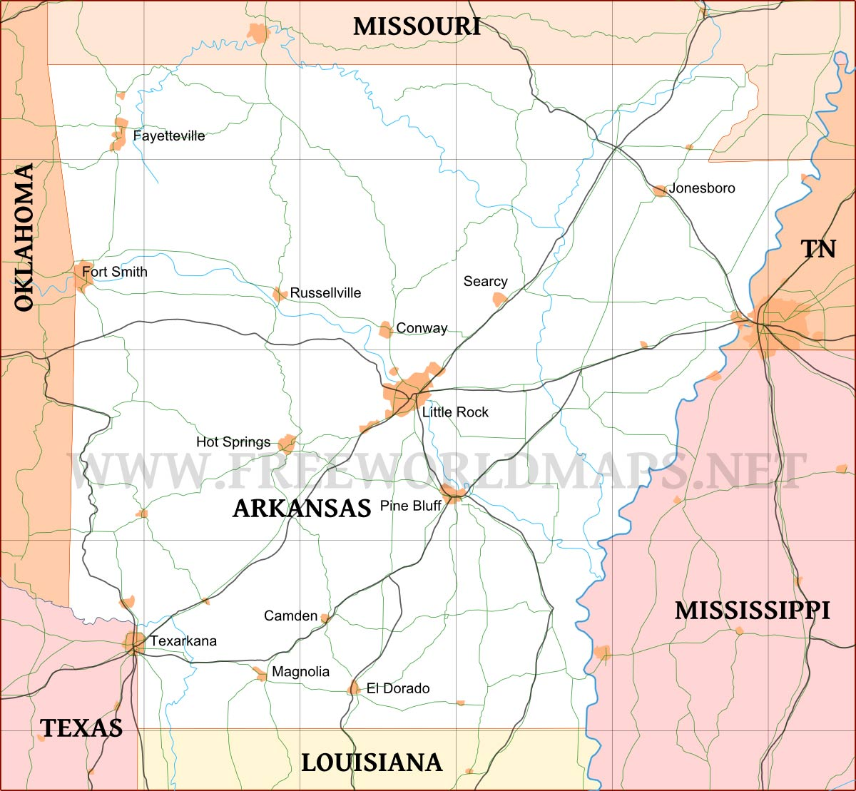 Arkansas World Map.Arkansas Maps