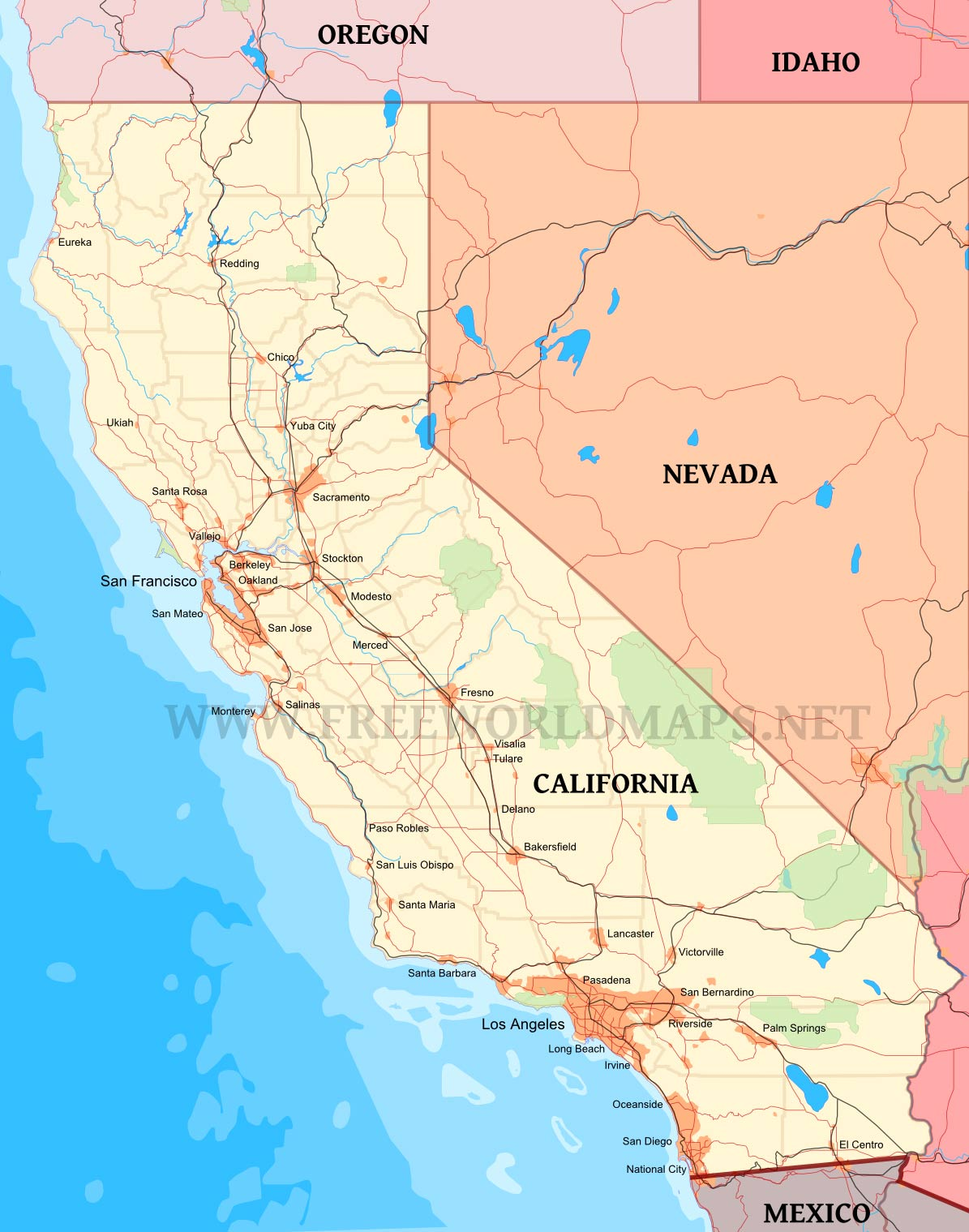California Maps - Detailed map of california