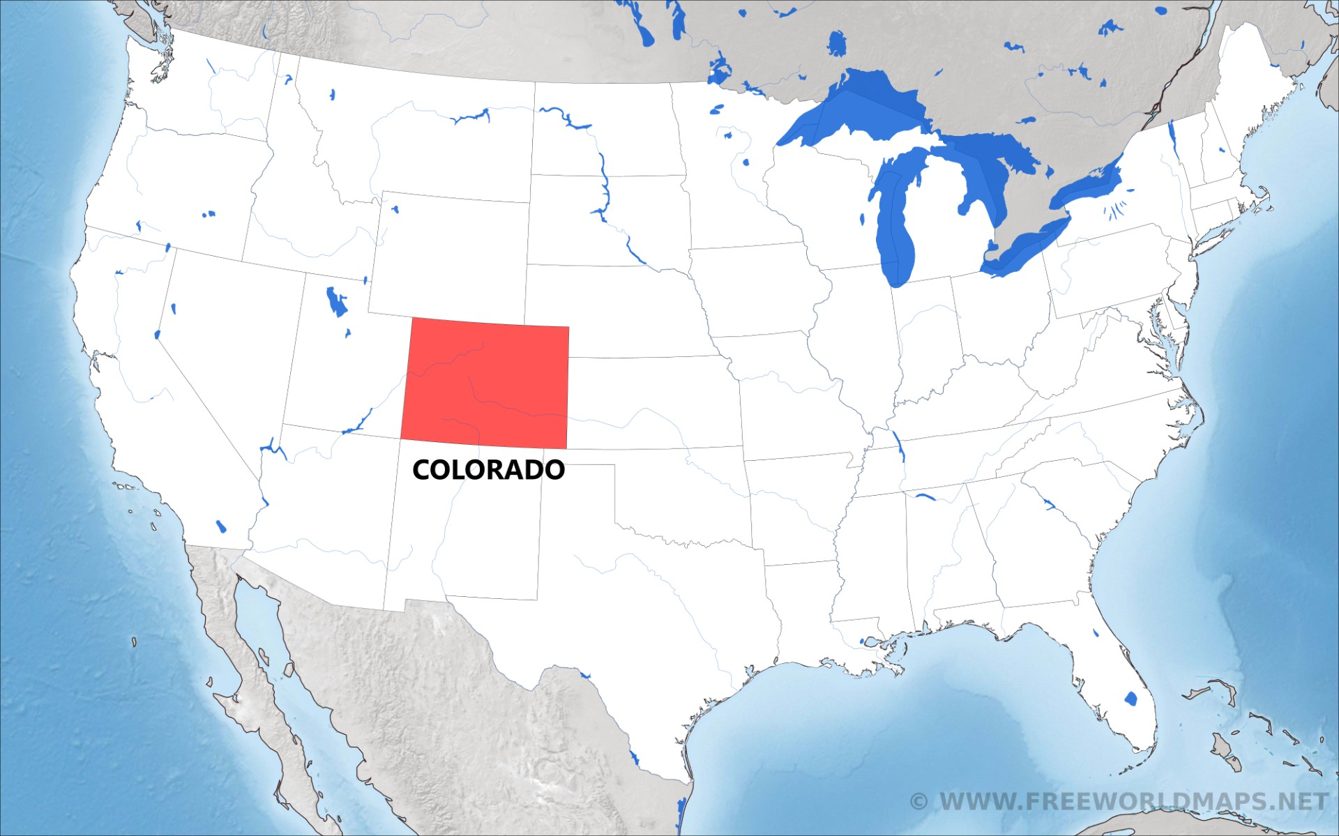 Where is Colorado located on the map