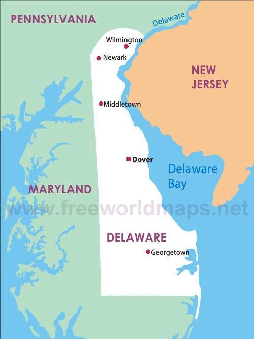 Delaware Maps - Map of delaware