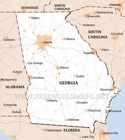 Physical Map Of Georgia - Map if georgia