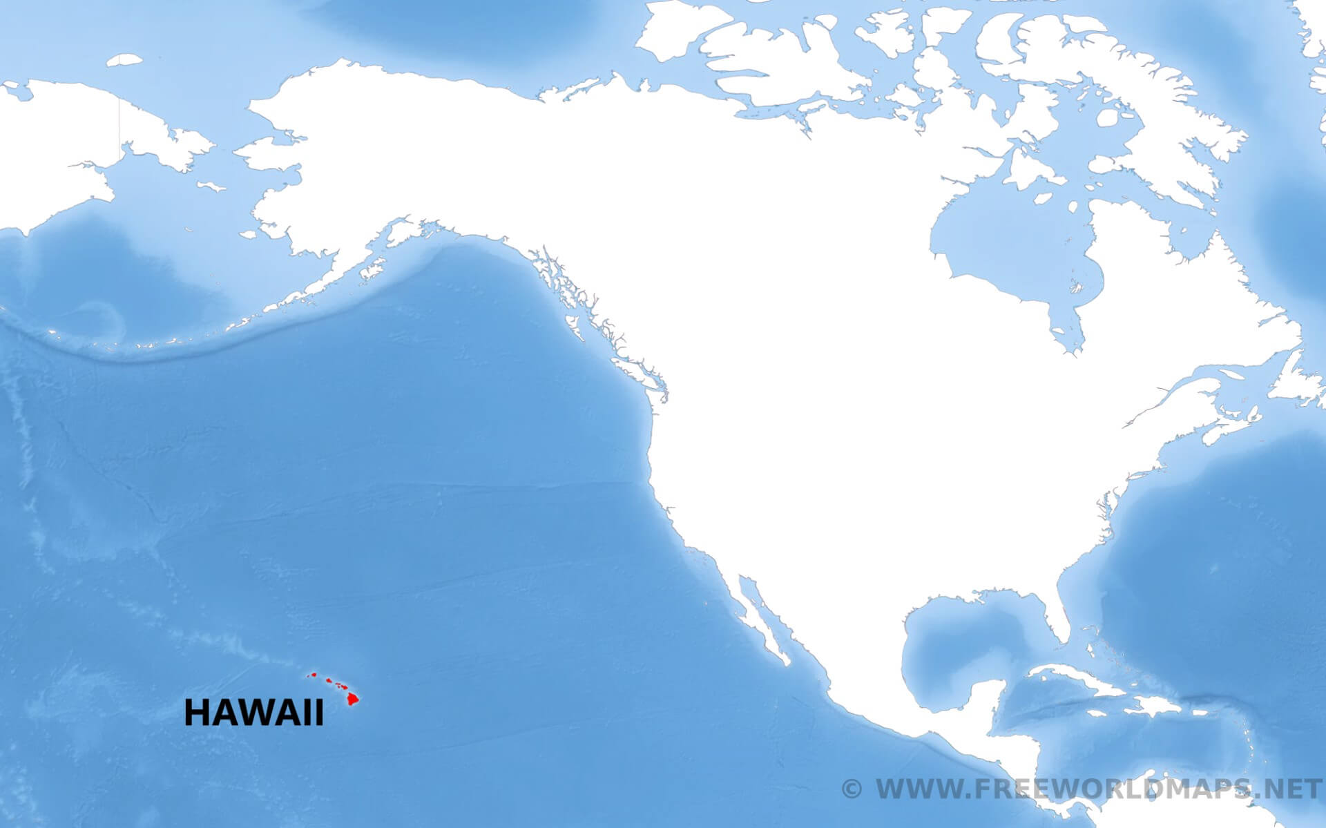 Where is Hawaii located on the map?