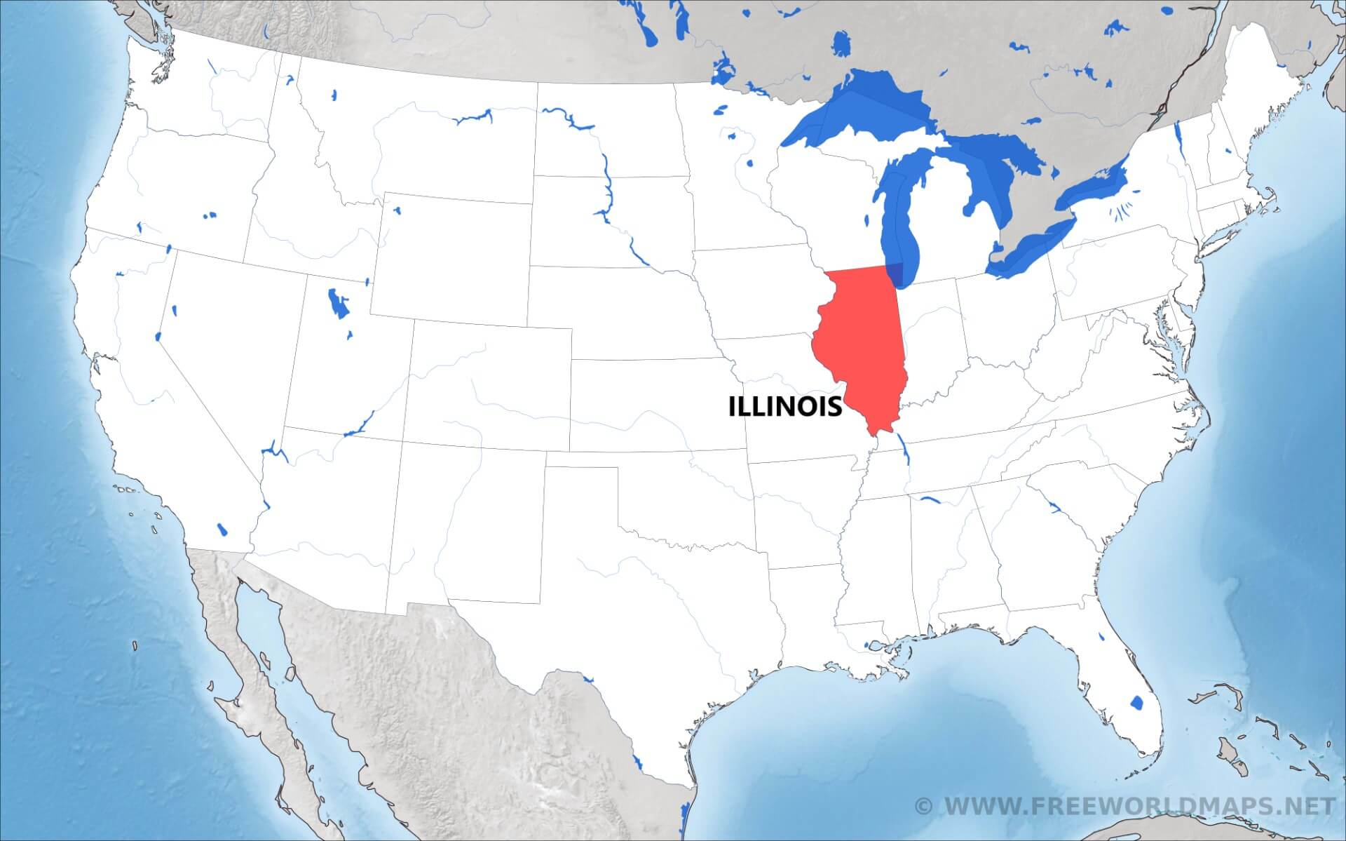 Where Is Illinois Located On The Map - Illinois on the us map