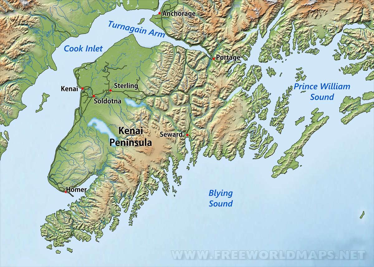 Kenai Peninsula maps