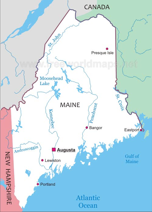 Maine Maps - Maps of maine