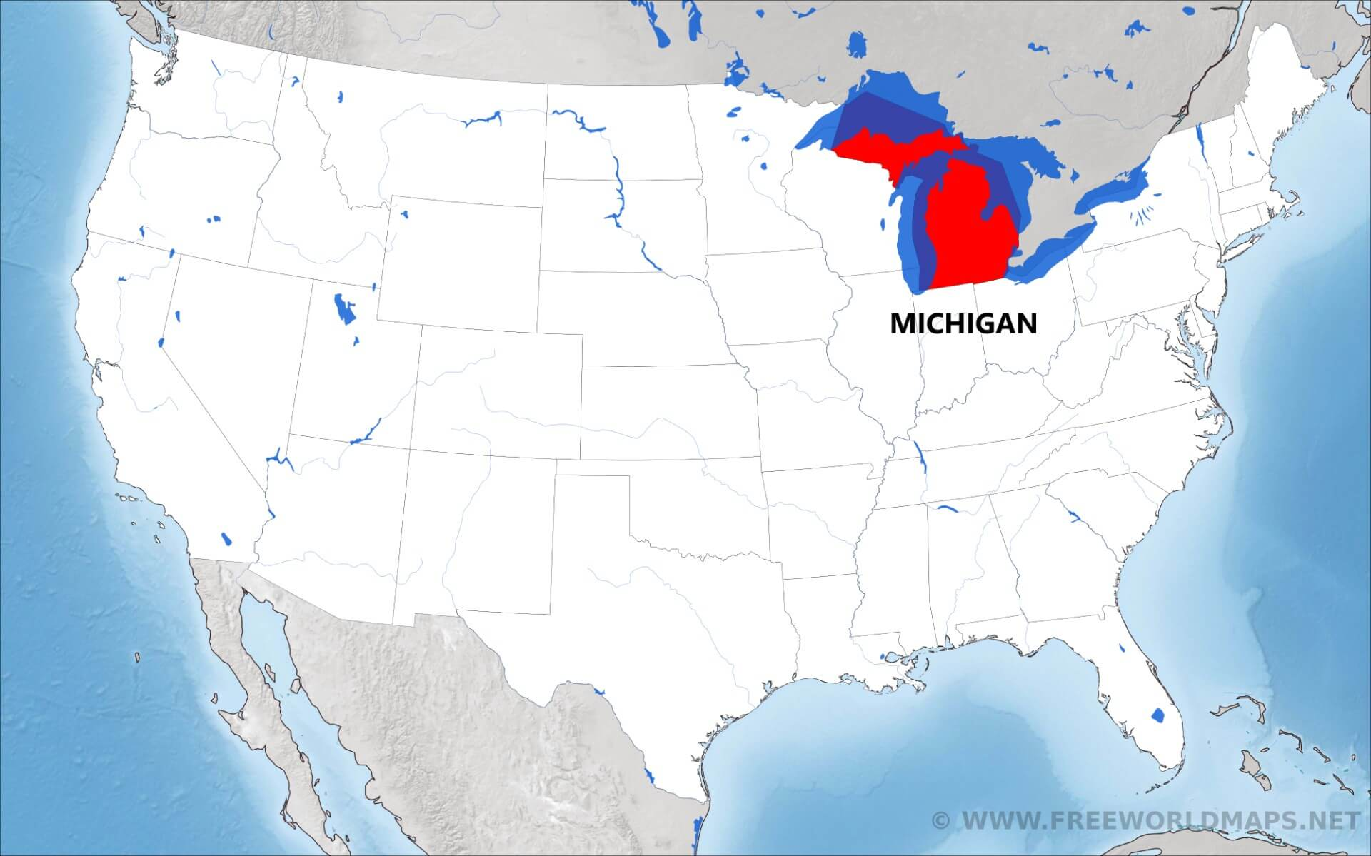 Where Is Michigan Located On The Map - Where is michigan in us map