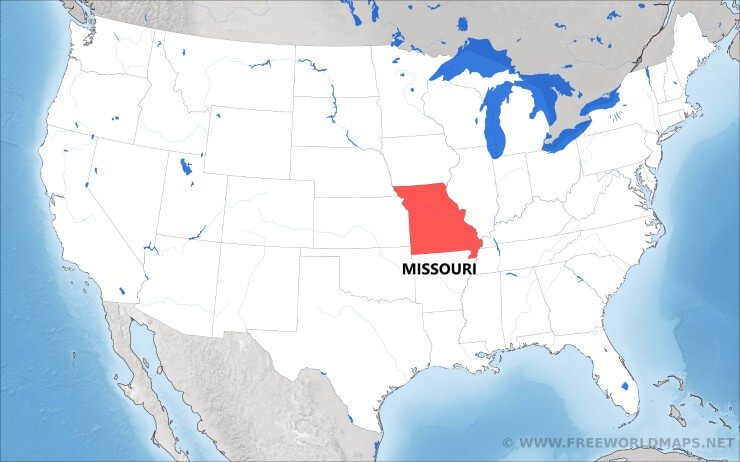Where Is Missouri Located On The Map