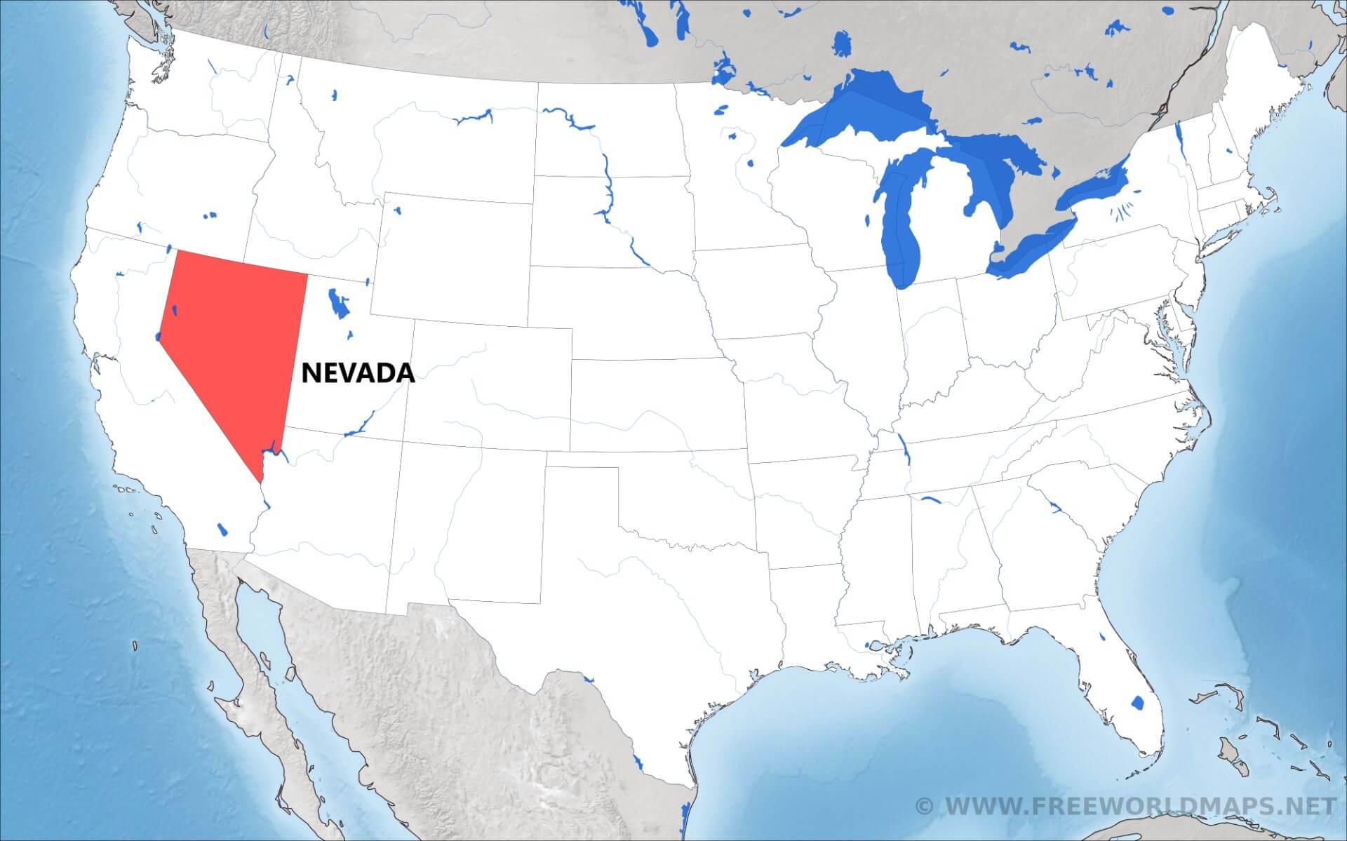 Where Is Nevada Located On The Map
