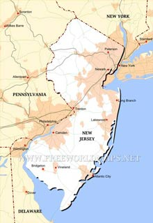 New Jersey Physical Map Swimnovacom - New jersey physical map