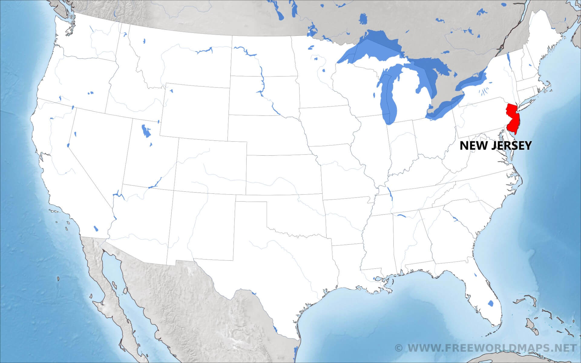 Where Is New Jersey Location Of New Jersey New Jersey State Maps